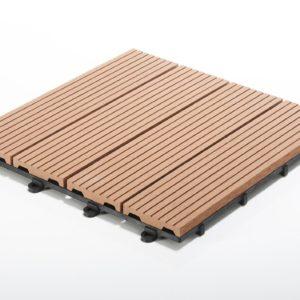 Terrassen-Klickfliese WPC Holz günstig Klicksystem
